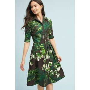 New Anthropologie Kelly Palm Shirt Dress By SSUNG